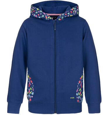 Bluza rozpinana z kapturem dla dziewczynki 3-8 lat D91C008_1