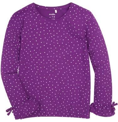Endo - Bufiasta bluzka z brokatem dla dziewczynki 9-13 lat D72G538_1