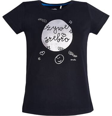 """Endo - T-shirt """"Żywe srebro"""" dla dziewczynki 3-8 lat D81G182_1"""