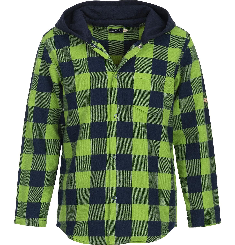 Endo - Koszula flanelowa z kapturem dla chłopca 3-8 lat C82F008_2