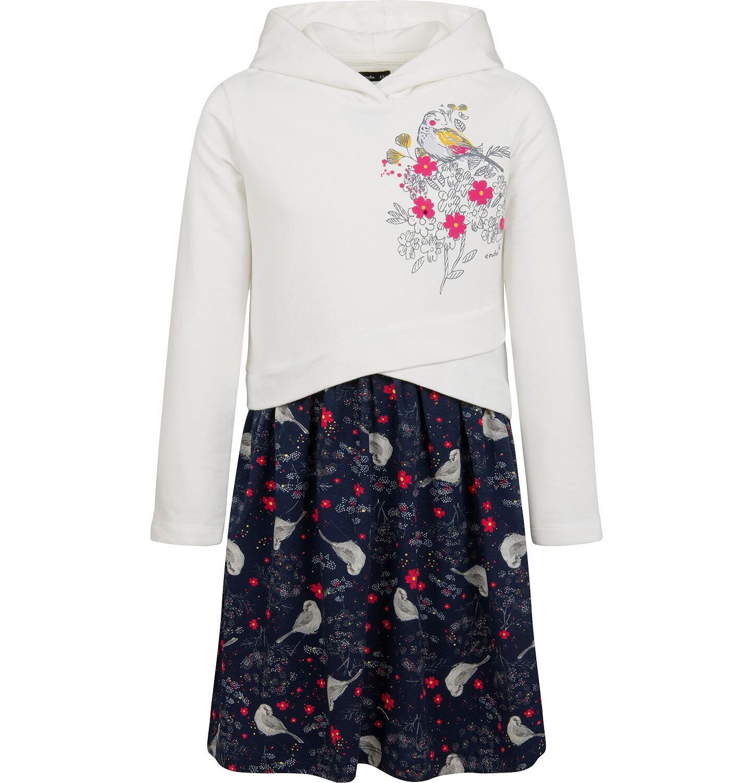 Endo - Sukienka z długim rękawem i kapturem, 9-13 lat D04H011_1