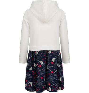 Endo - Sukienka z długim rękawem i kapturem, 9-13 lat D04H011_1,2