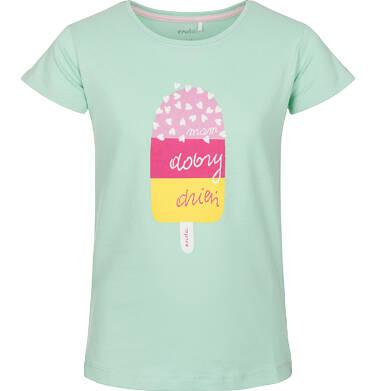 T-shirt z krótkim rękawem dla dziewczynki 9-13 lat D91G504_1