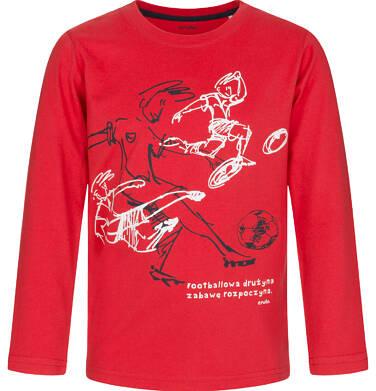 Endo - T-shirt z długim rękawem dla chłopca, footbolowa drużyna, czerwony, 9-13 lat C92G523_1