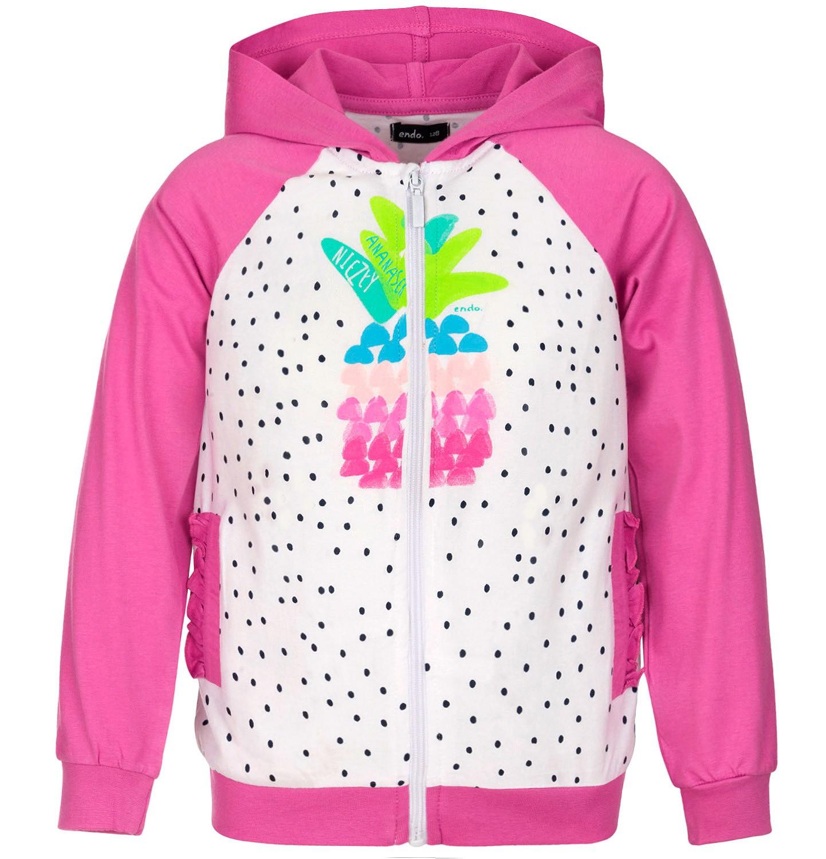 Endo - Bluza rozpinana z kapturem dla dziewczynki 3-8 lat D91C010_1