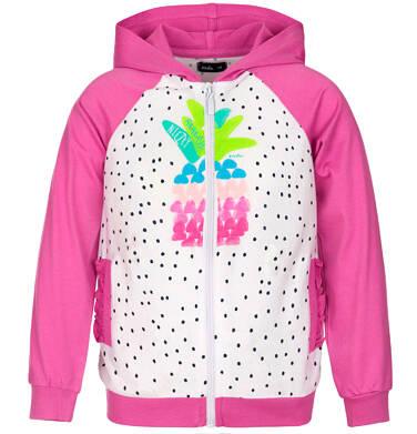 Bluza rozpinana z kapturem dla dziewczynki 3-8 lat D91C010_1