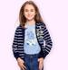 Endo - Bluzka z krótkim rękawem dla dziewczynki, rękawki z falbanką, ze stokrotkami, niebieska, 2-8 lat D05G051_1,2
