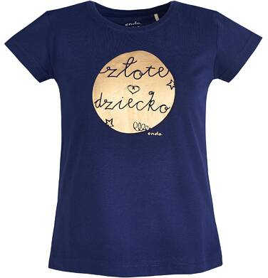 """Endo - T-shirt """"Złote dziecko"""" dla dziewczynki 9-13 lat D81G683_1"""