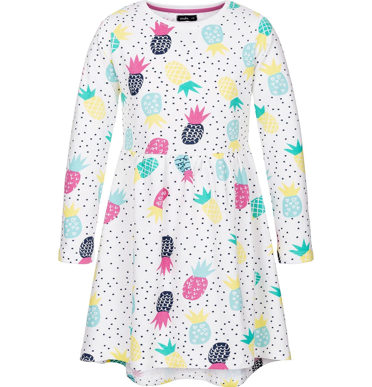 Endo - Sukienka z długim rękawem dla dziewczynki 3-8 lat D91H018_1