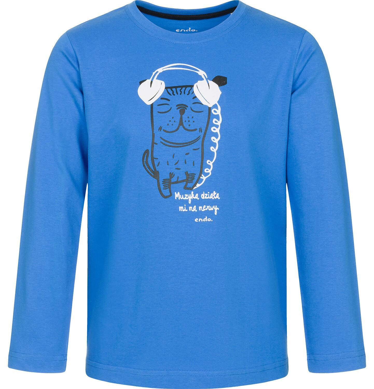 Endo - T-shirt z długim rękawem dla chłopca 3-8 lat C92G126_1