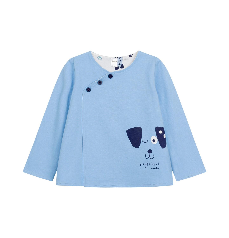 Endo - Rozpinana bluza dla dziecka do 2 lat, z pieskiem, niebieska N03C008_1