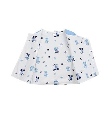 Endo - Rozpinana bluza dla dziecka do 2 lat, z pieskiem, niebieska N03C008_1,2