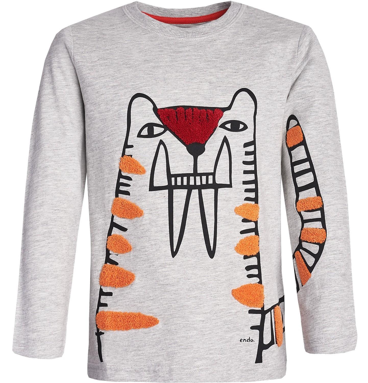 Endo - T-shirt z długim rękawem dla chłopca 3-8 lat C82G071_1