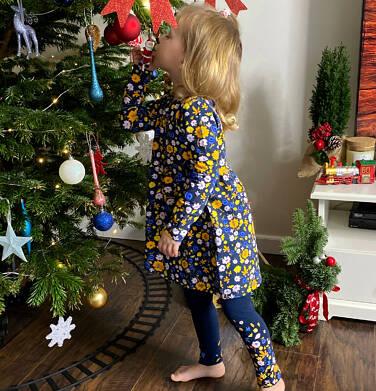 Endo - Sukienka z długim rękawem, kolorowy deseń, 2-8 lat D04H027_3 17