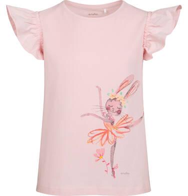 Endo - Bluzka z krótkim rękawem dla dziewczynki, z baletnicą, różowa, 2-8 lat D05G069_1 24
