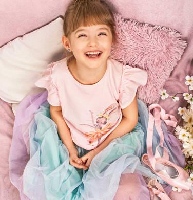 Endo - Bluzka z krótkim rękawem dla dziewczynki, z baletnicą, różowa, 2-8 lat D05G069_1 17