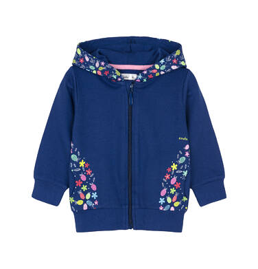 Bluza rozpinana z kapturem dla dziecka 0-3 lata N91C016_1