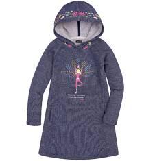 Endo - Sukienka o charakterze bluzy z kapturem dla dziewczynki 9-13 lat D72H513_1
