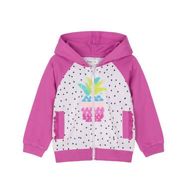 Bluza rozpinana z kapturem dla dziecka 0-3 lata N91C017_1