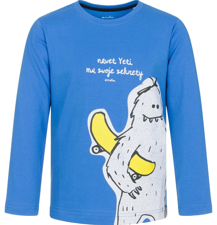 Endo - T-shirt z długim rękawem dla chłopca 9-13 lat C92G627_1