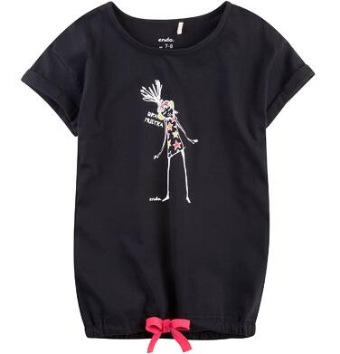 Endo - Tunika z krótkim rękawem i troczkiem dla dziewczynki 4-8 lat D71G050_1