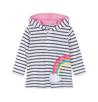 Sukienka z długim rękawem dla dziecka 0-3 lata N91H007_1