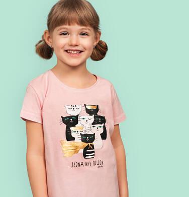 Endo - T-shirt z krótkim rękawem dla dziewczynki, z kotami, różowy, 2-8 lat D05G087_2 23