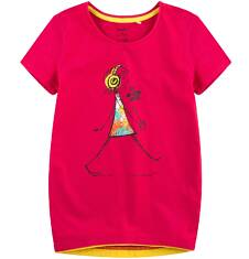 Tunika z krótkim rękawem dla dziewczynki 9-13 lat D71G552_1