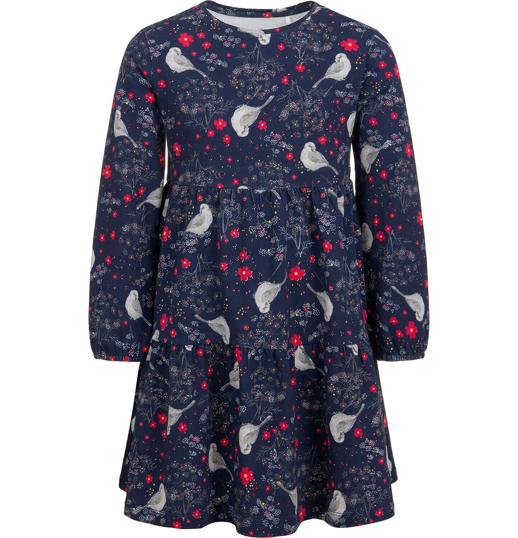 Endo - Sukienka z długim rękawem, z falbanką i deseniem, 9-13 lat D04H055_1