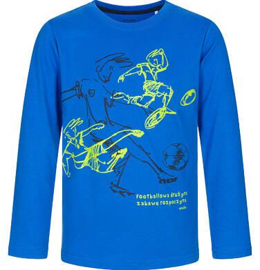 T-shirt z długim rękawem dla chłopca, footbolowa drużyna, niebieski, 3-8 lat C92G023_2