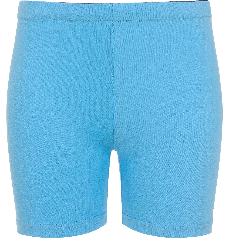 Endo - Krótkie legginsy dla dziewczynki, niebieskie, 9-13 lat D06K045_4