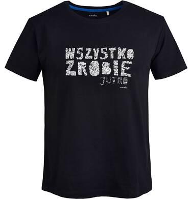 """Endo - T-shirt męski  """"Wszystko zrobię jutro"""" Q81G034_1"""