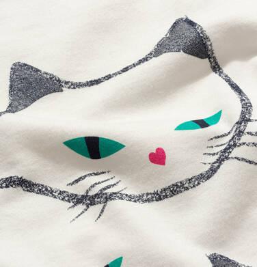 Endo - T-shirt z krótkim rękawem dla dziewczynki, z kotami, biały, 2-8 lat D05G092_1 22