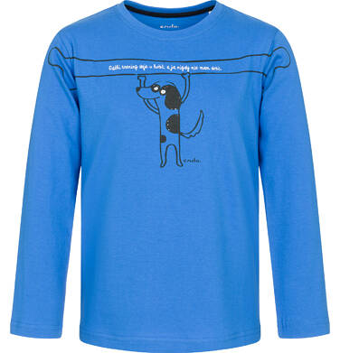 Endo - T-shirt z długim rękawem dla chłopca 9-13 lat C92G630_1