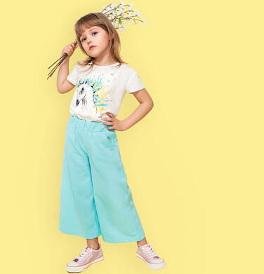 Endo - Spodnie dresowe kuloty dla dziewczynki, jasnoniebieskie, 2-8 lat D03K044_2 12