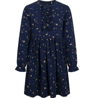 Endo - Sukienka z długim rękawem, deseń w kwiaty, granatowa, 2-8 lat D04H058_1 16