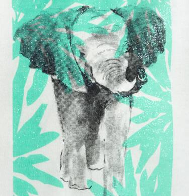 Endo - T-shirt z krótkim rękawem dla dziewczynki, ze zwierzętami, biały, 9-13 lat D05G133_1,2
