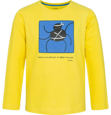 Endo - T-shirt z długim rękawem dla chłopca, żółty, 9-13 lat C92G631_1 2