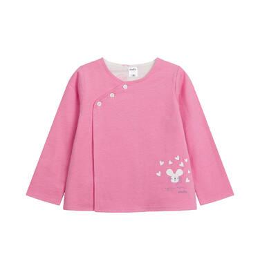 Endo - Rozpinana bluza dla dziecka do 2 lat, myszka mamusi, różowa N03C011_1 2