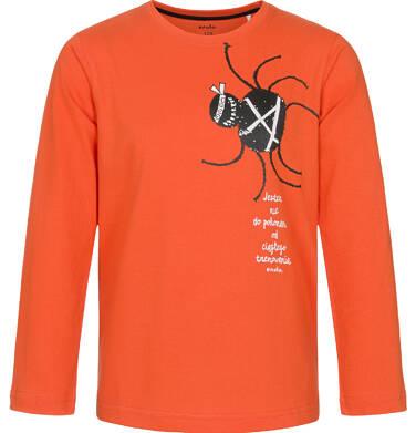 Endo - T-shirt z długim rękawem dla chłopca, pomarańczowy, 9-13 lat C92G632_1