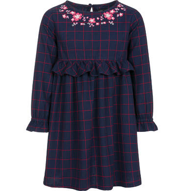 Endo - Sukienka z długim rękawem dla dziewczynki 3-8 lat D92H015_1