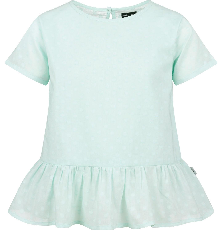 Endo - Bluzka koszulowa z krótkim rękawem dla dziewczynki, zielona w monochromatyczne grochy, 9-13 lat D03F501_2