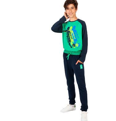 Endo - Spodnie dresowe dla chłopca, granatowe, 9-13 lat C04K001_1 5