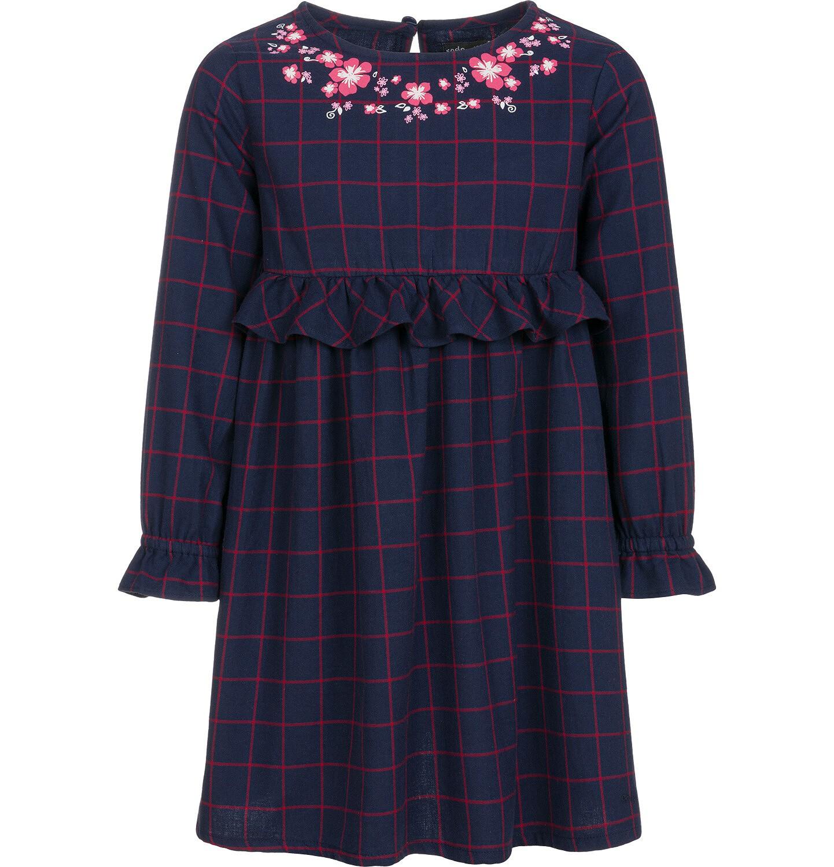 Endo - Sukienka z długim rękawem dla dziewczynki 9-13 lat D92H515_1