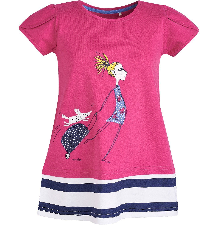 Endo - Tunika z krótkim rękawem dla dziewczynki 9-13 lat D81G654_1