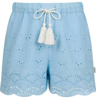 Endo - Krótkie spodenki dla dziewczynki, z deseniem, niebieskie, 9-13 lat D03K563_1 222