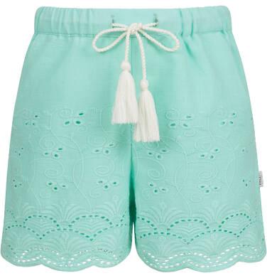 Endo - Krótkie spodenki dla dziewczynki, z deseniem, miętowe, 2-8 lat D03K063_2 29