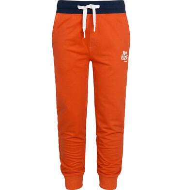Spodnie dresowe dla chłopca, pomarańczowe, 9-13 lat C05K017_1