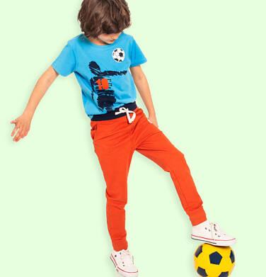 Endo - Spodnie dresowe dla chłopca, pomarańczowe, 9-13 lat C05K017_1 23