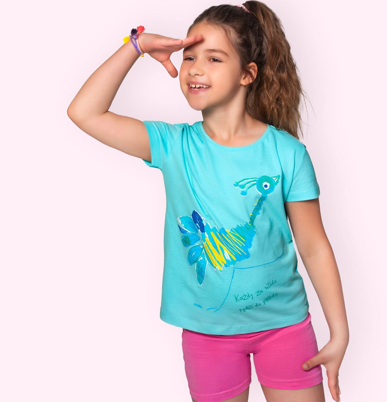 Endo - Krótkie legginsy dla dziewczynki, różowe, 9-13 lat D06K045_5